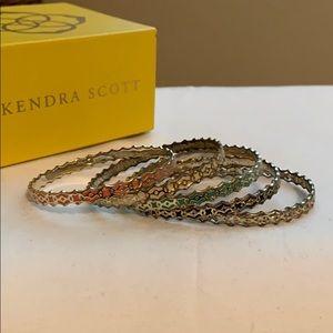 Set of Kendra Scott bangle bracelets